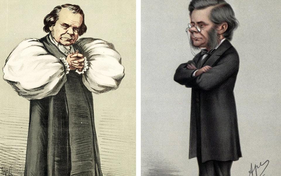 (Soldaki Wilberforce, sağdaki Huxley)