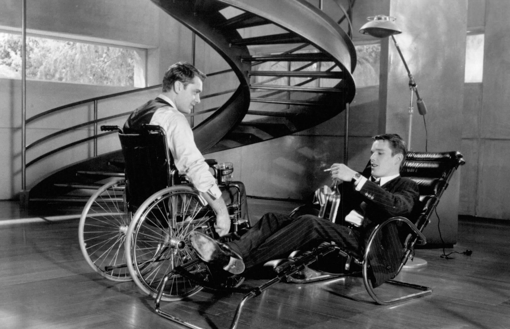 Gattaca - Jude Law'un, sakat olsa bile, tüm erkeklerin %99'undan daha çekici olacağı hakkında bir film