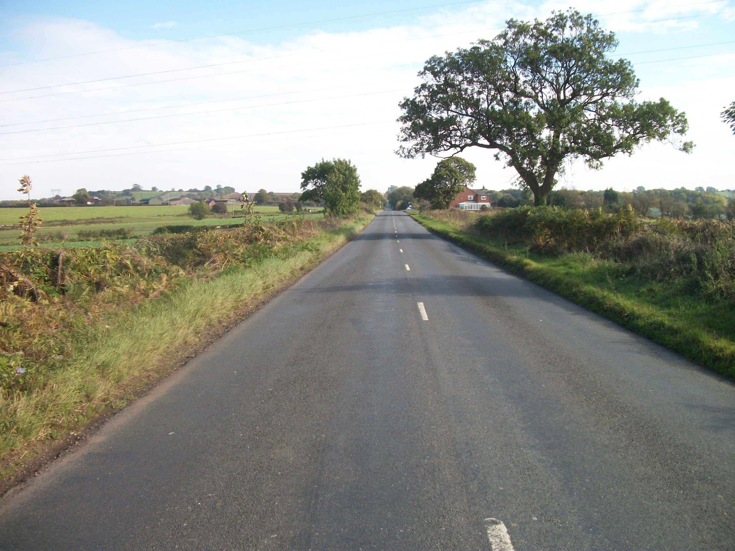 Photo:  This photo shows a 60 mph road. Can you see what's coming?