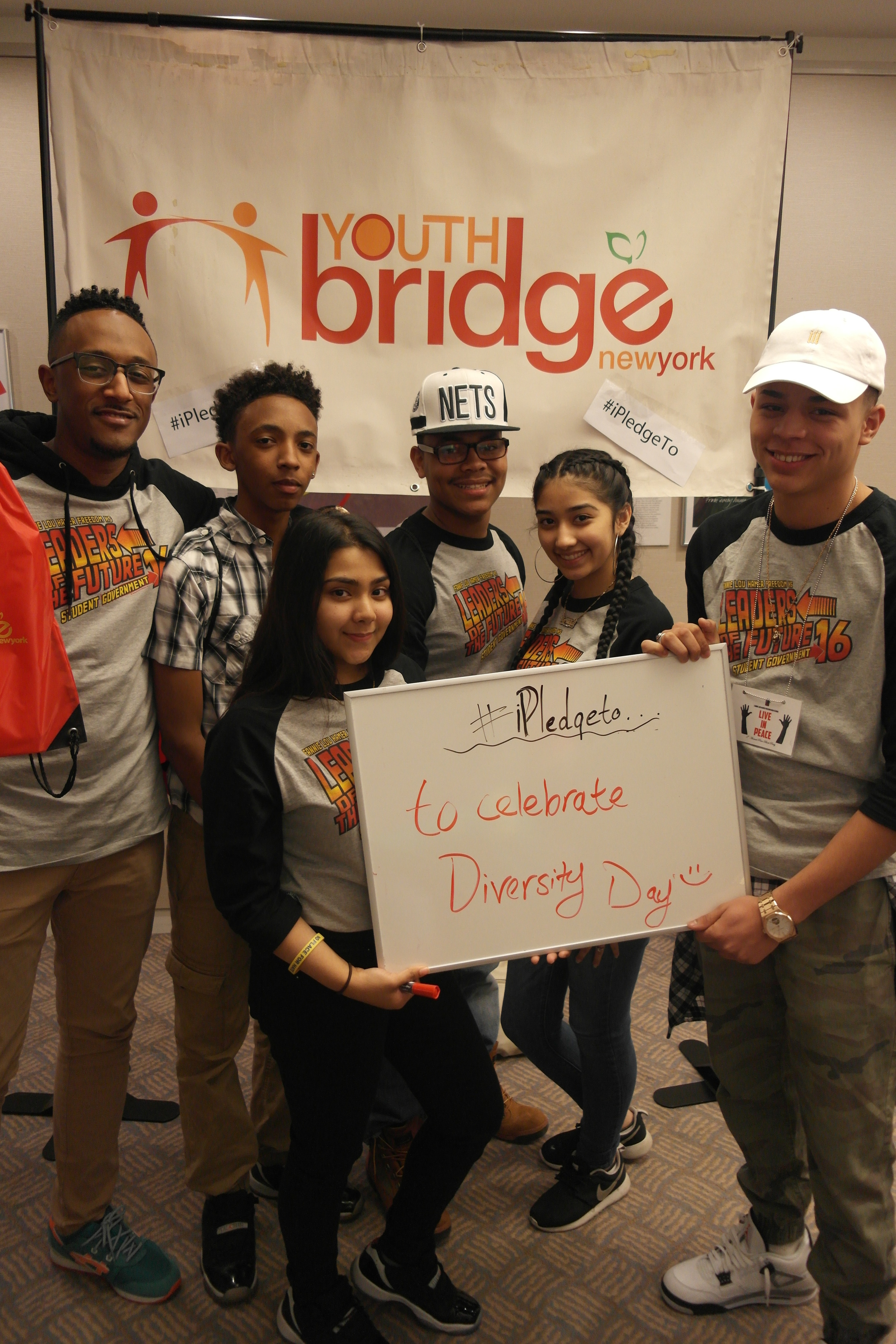 Above: Members of Fannie Lou Hamer Freedom High School Student Government at the Leaders to Leaders Youth Summit