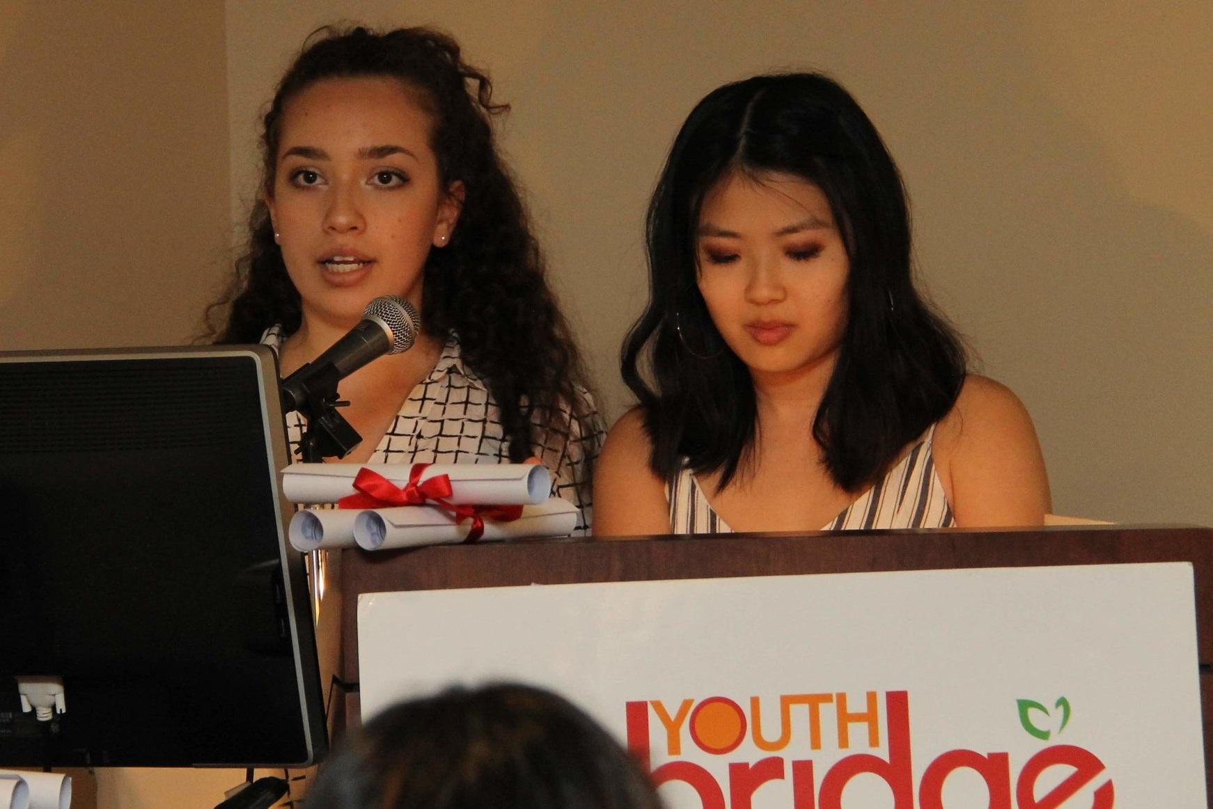 Jessica Gruboy and Chelsea Cheung are both graduating seniors at Stuyvesant High School.