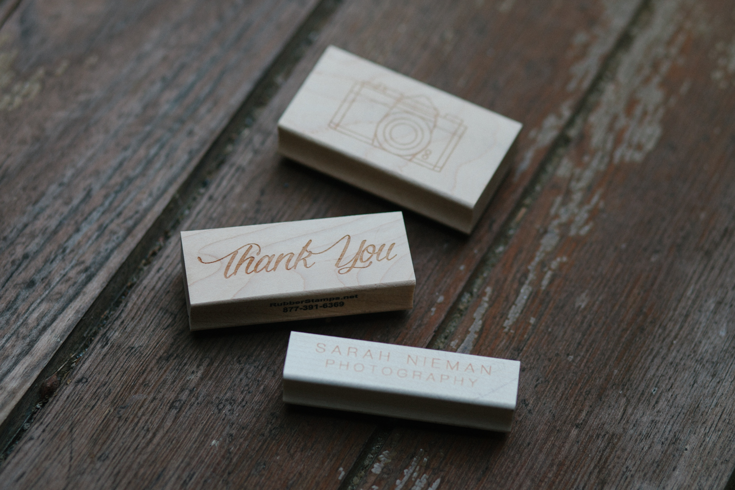 These stamps are so perfect. I separated the two pieces of my logo so that I can stamp them separately on things, which is super handy, especially when my logo is usually two different colors.