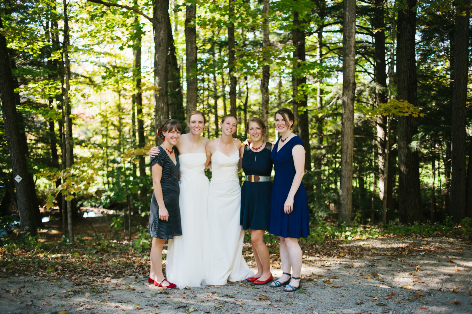 The small but lovely bridal party.