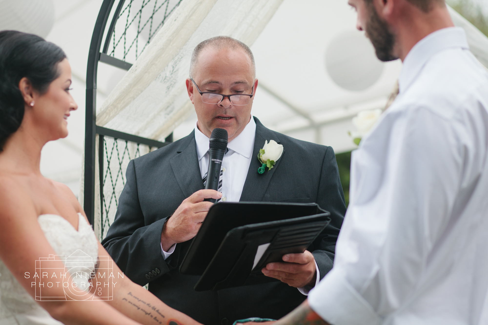 Matt's dad officiated the ceremony and did such a great job!