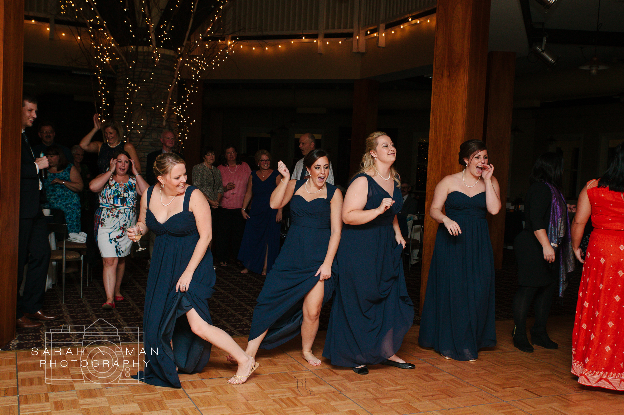 Best bridesmaids ever! They were rocking out the whole time.