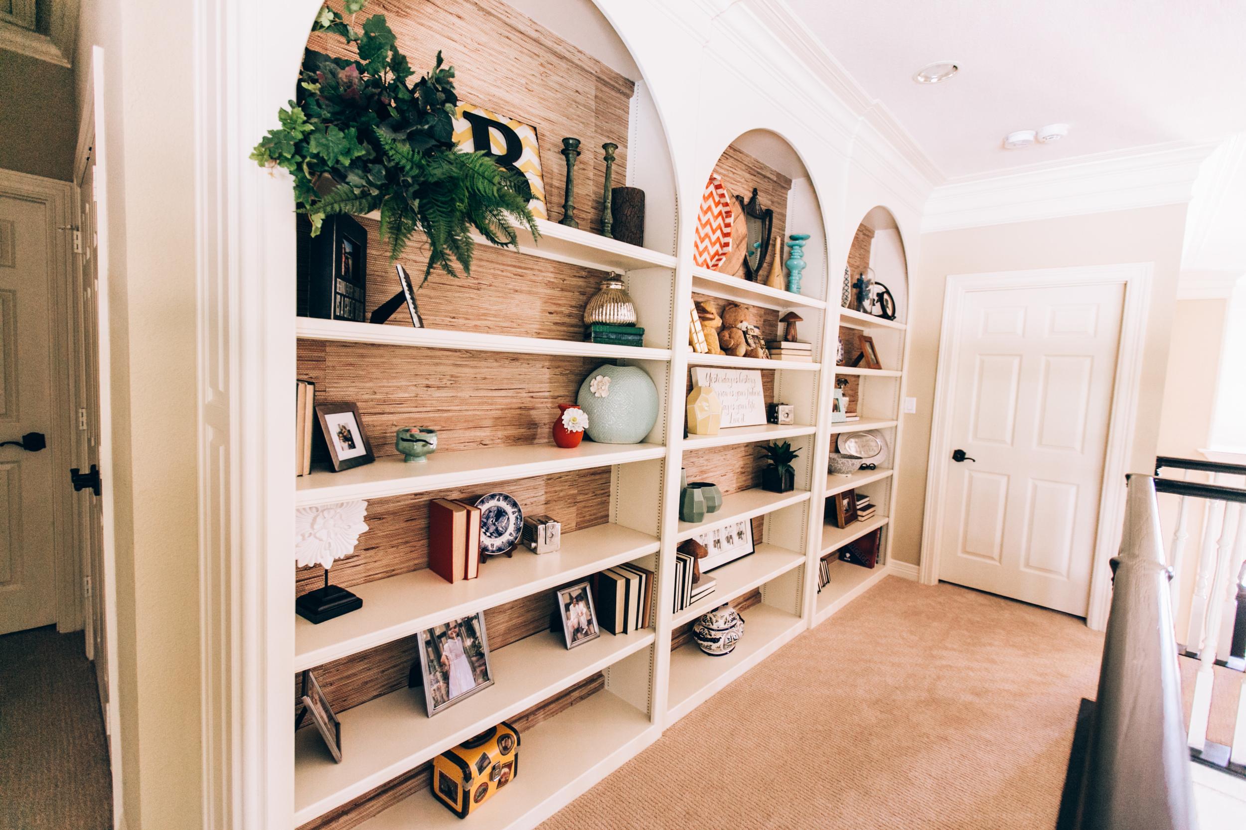 Styled Book Shelves
