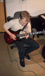 Ben, the Whiz Kid, warming up for another blistering solo!