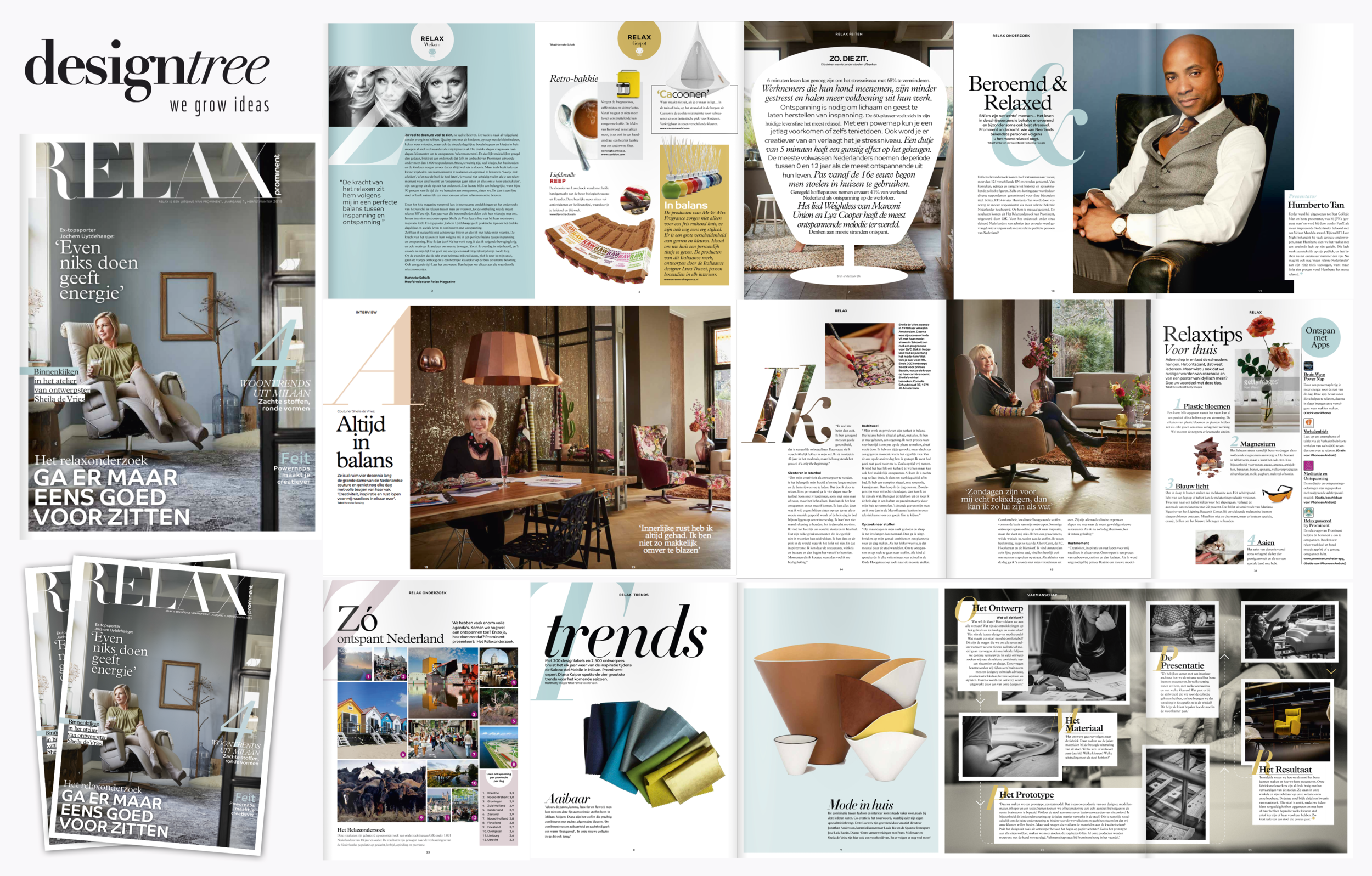 Relax magazine, redesigned by Designtree