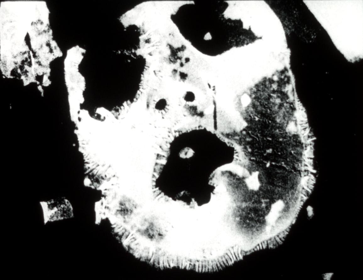 """Film still from Stephen Broomer's """"Potamkin."""""""