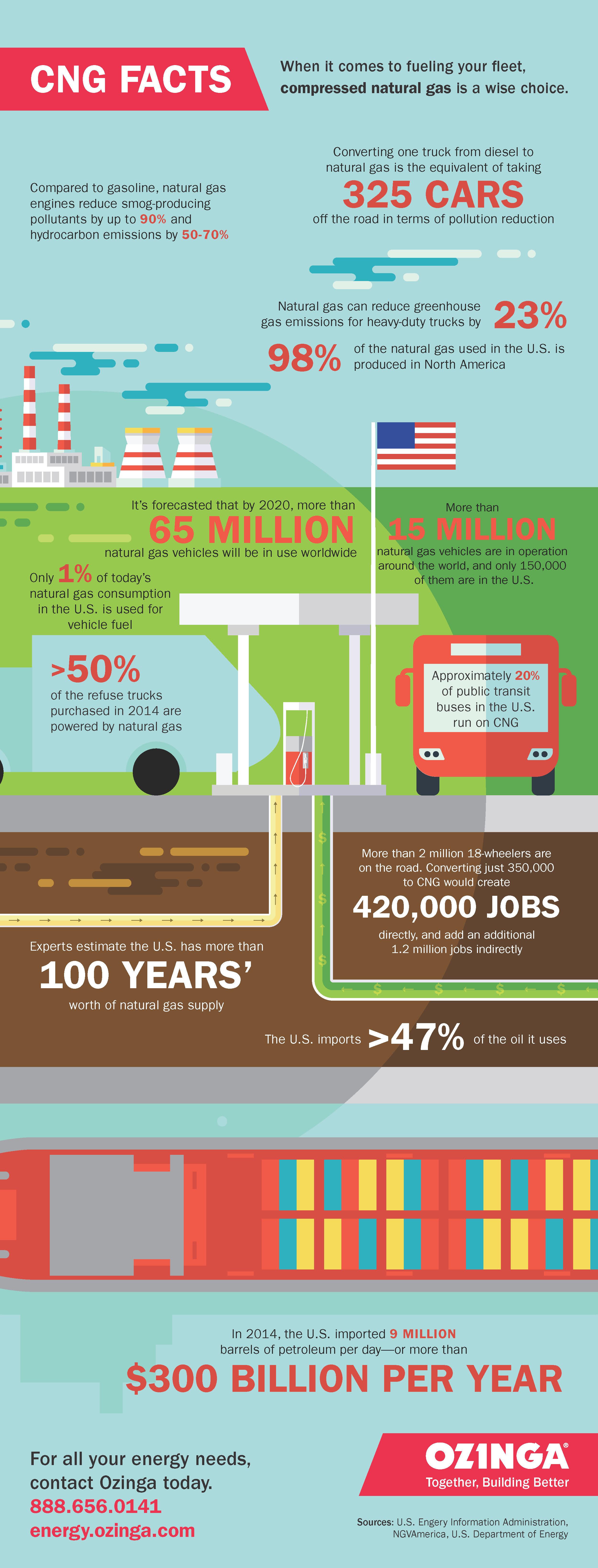 OZINGA CNG FACTS |  Infographic Design
