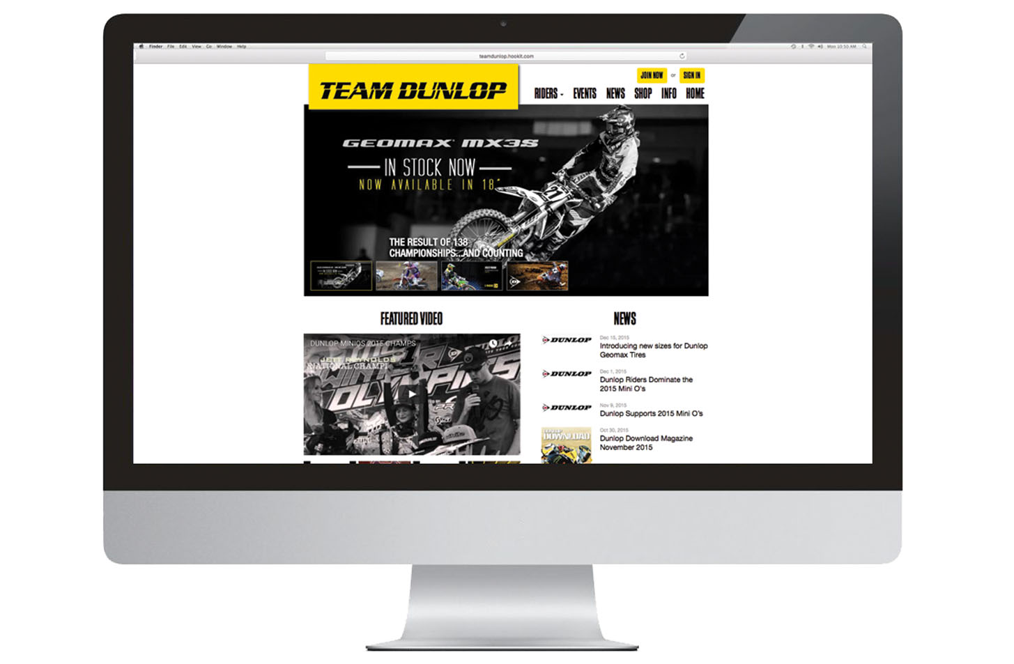 Team Dunlop amateur motocross customer loyalty program