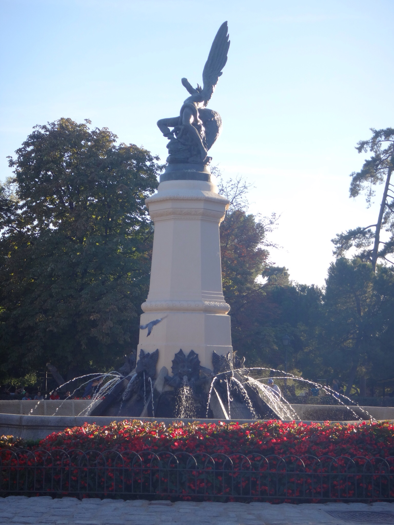 Fountain of Retiro Park - once the private 300 acre park of royalty