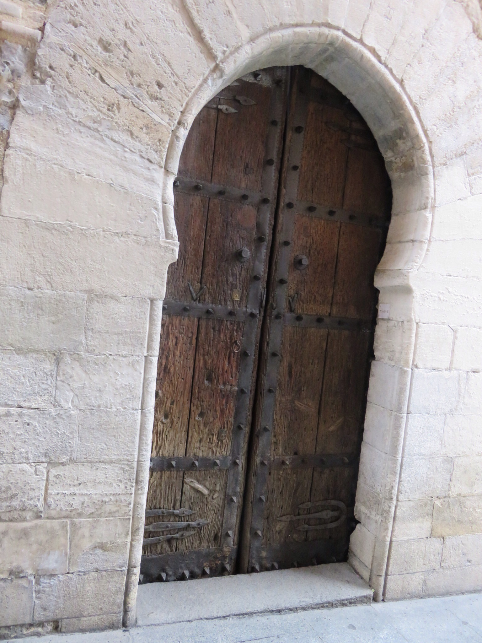 Madrid's oldest door on oldest inhabited building - 1480