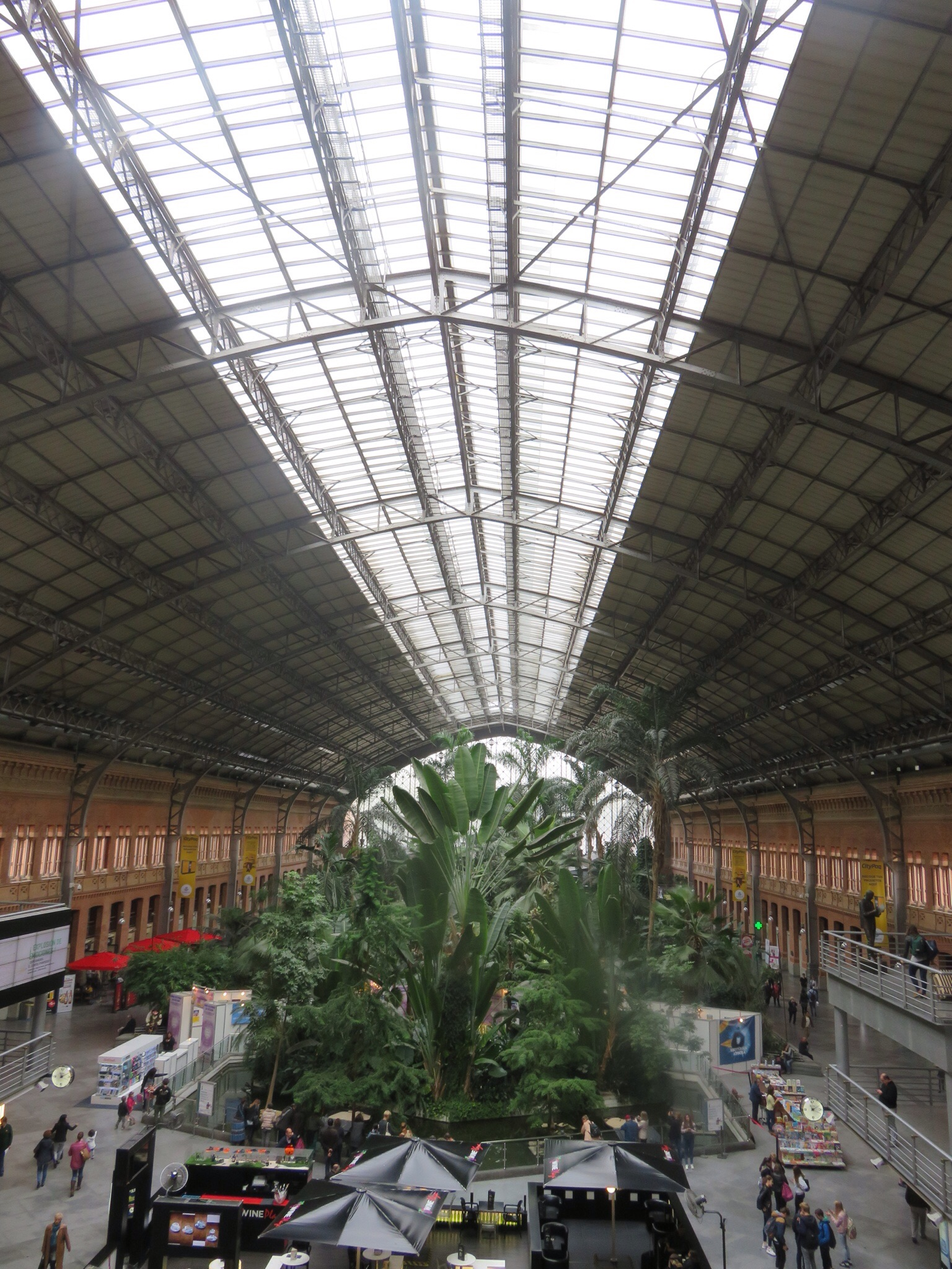 Interior of Madrid's Atocha train station - a tropical garden!