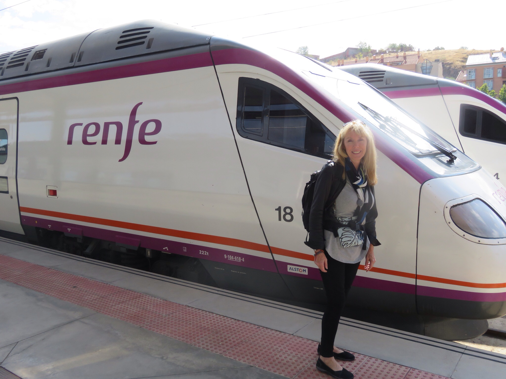 High speed train, runs up to 300 kilometers per hour! (Also has better seats than any airline)