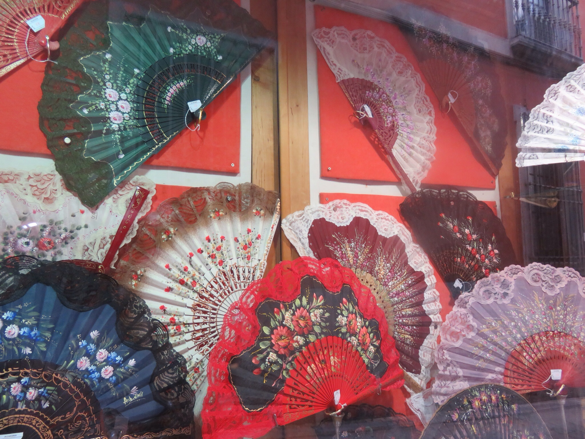 Shop selling handmade fans