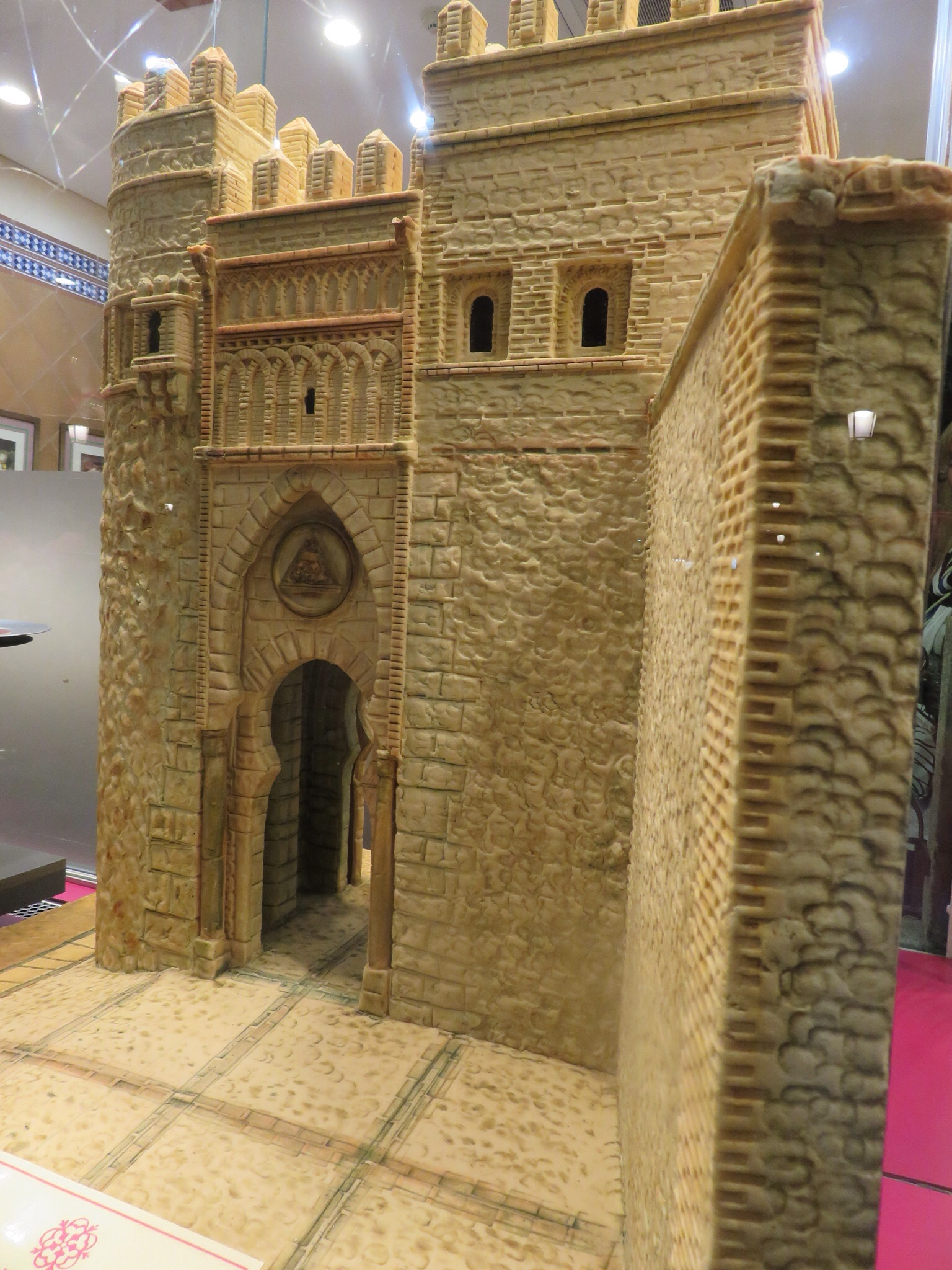 Model of one of the gateways made out of marzipan!