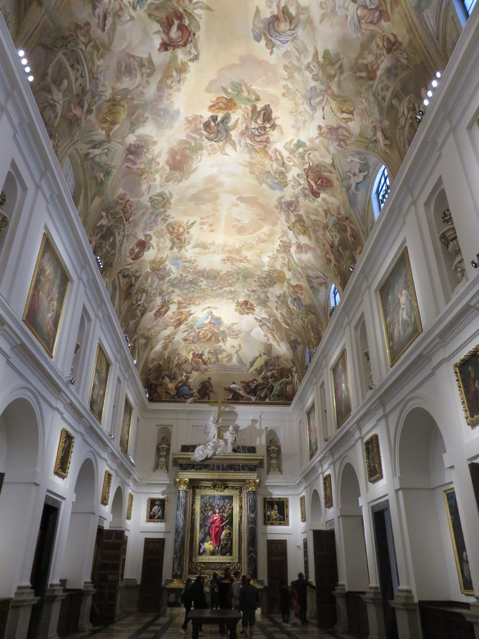 The Sacristy, where priests prepared themselves for Mass, like a small art gallery with works by de Goya, Titian, Velazquez, Bellini, Caravaggio and 19 pieces by El Greco