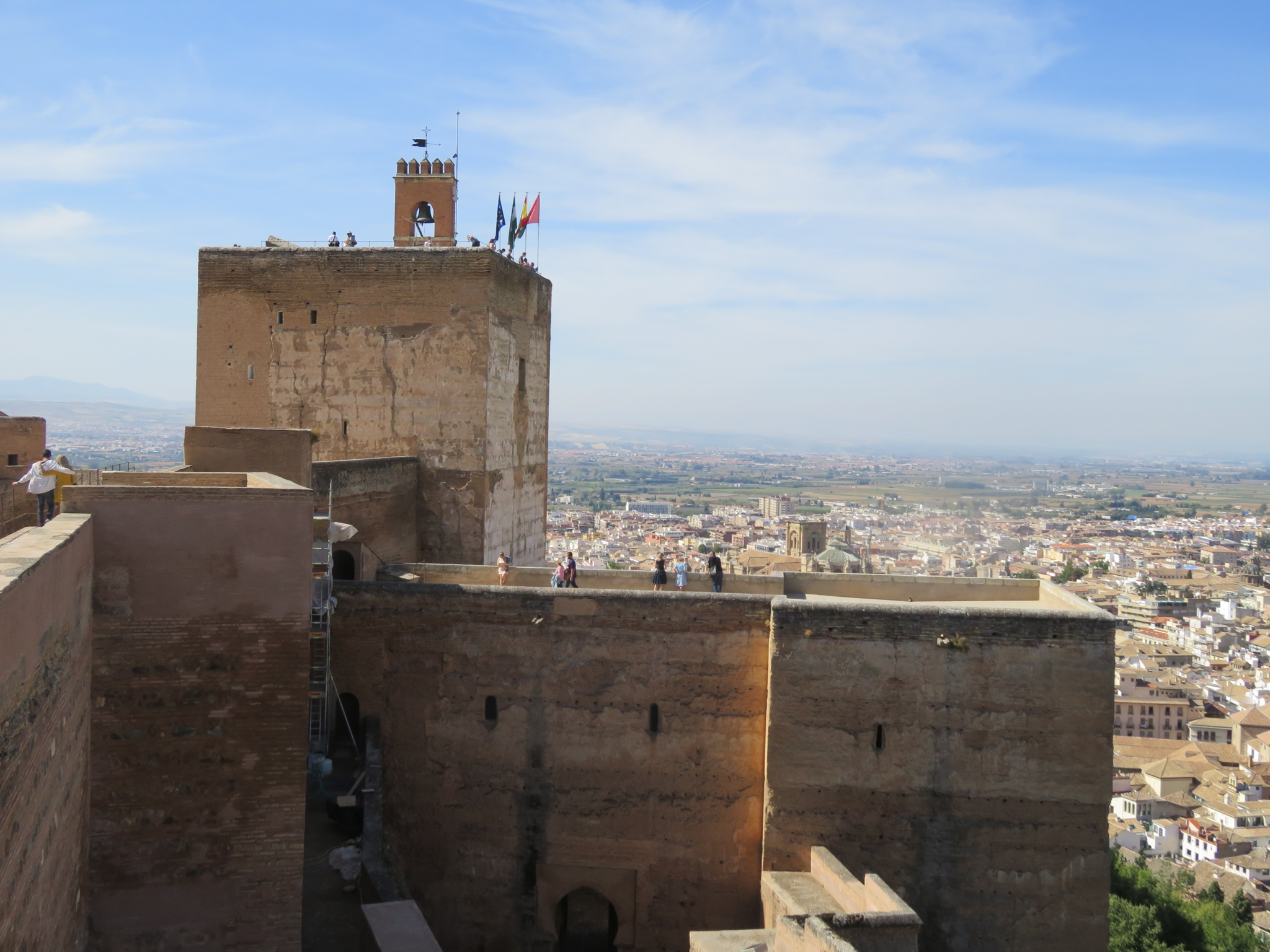 The Alcazaba, dates from the 13th century - tower used to defend the 2000 citizens that lived within its walls