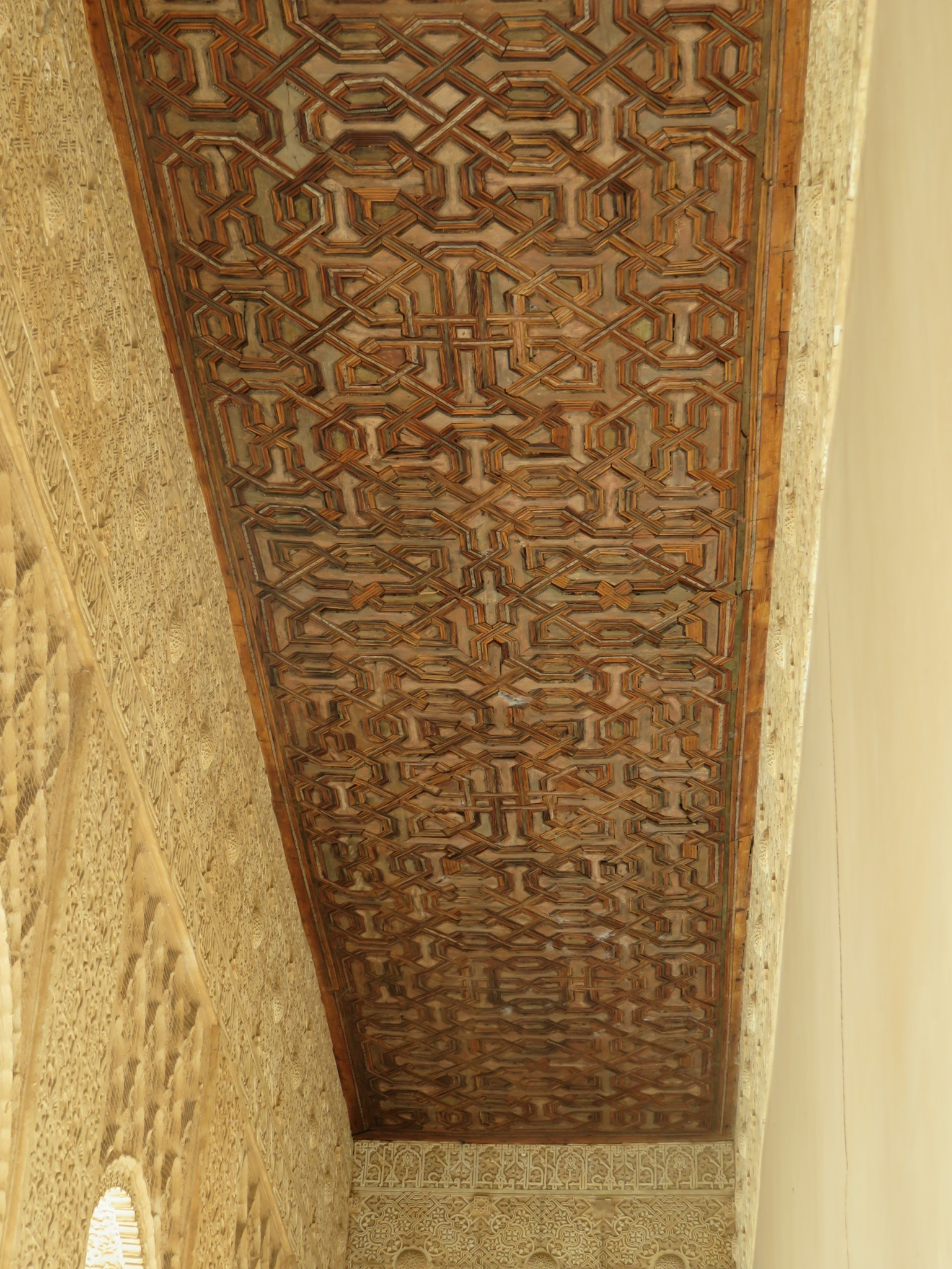 Carved wooden ceilings made in pieces then assembled like a jigsaw puzzle