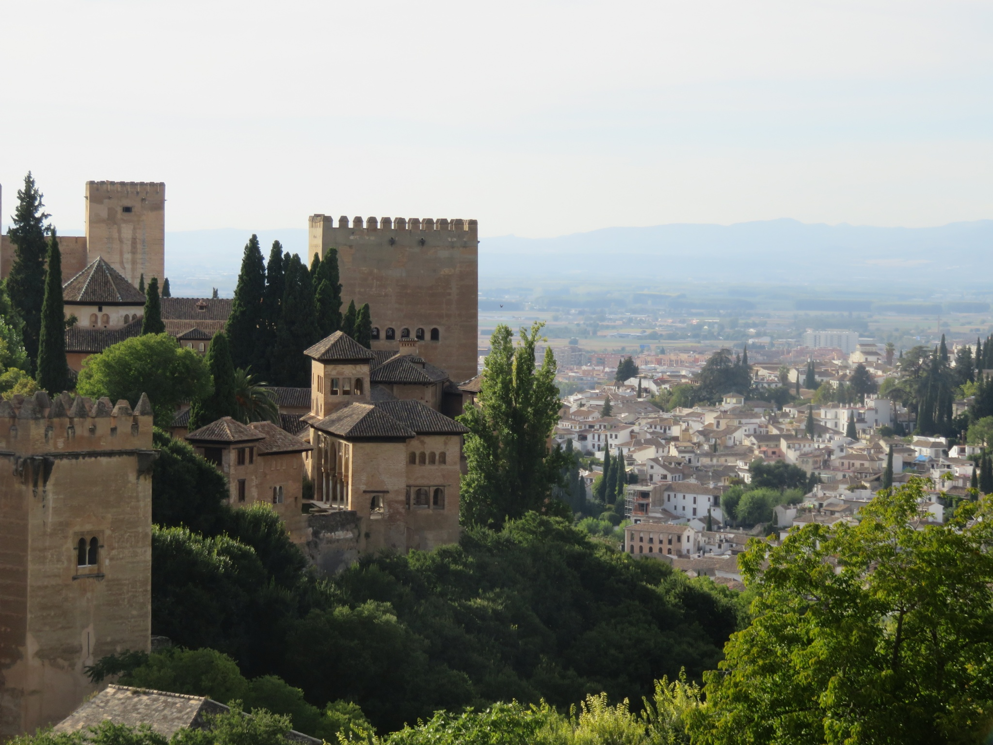 view of the Alhambra from the summer palace