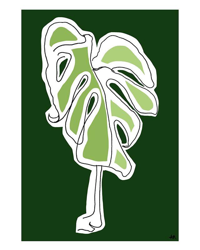 """Tickle Me Pink"" Monstera triptych . . . . . .  #digitalcollage #monsteramonday #monstera #botanicaldrawing #botanicalillustration #makersgonnamake #makermonday #happymonday #millenialpink #green #tryptpic #blindcontour #contourdrawing #collage #collageart"