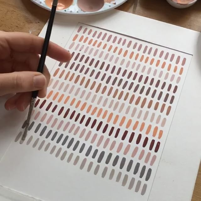 Watch the beauty as the colors unfold. Scroll left to see end result. #amcolorstudies . . . . . #burntsienna #fleshtint #white #gray #color #colorstudy #colorful #dscolor #colorize #goauche #painting #artforyourhome