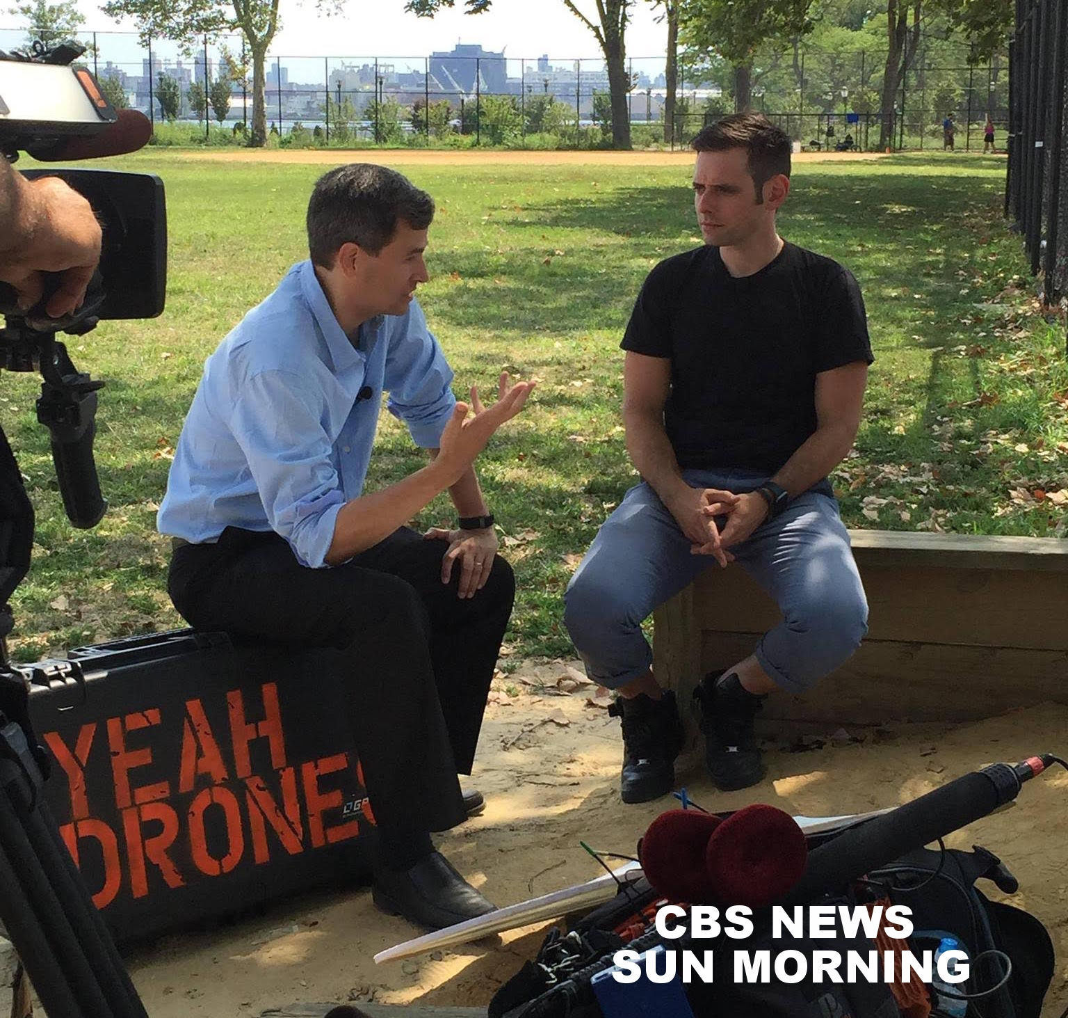 We got to talk drones with David Pogue...