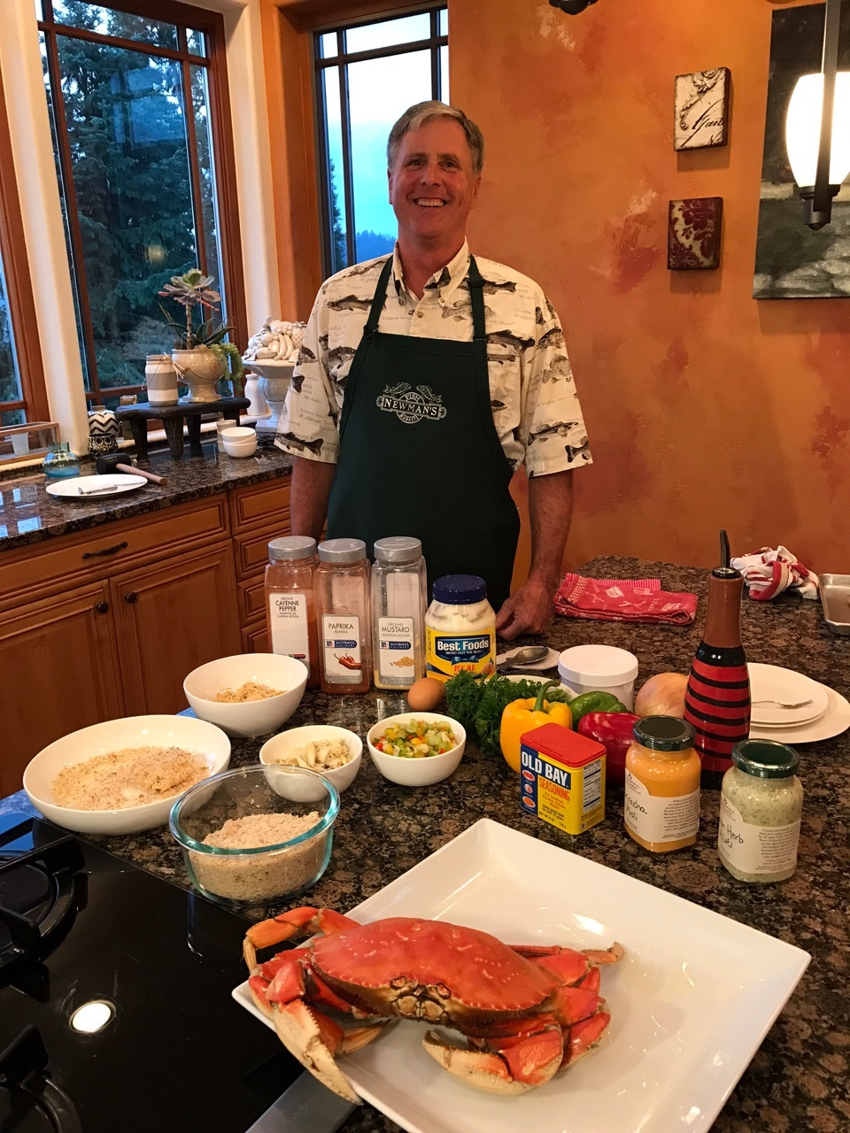 Watch Dwight's Fish & Tips video on how to make crab cakes .