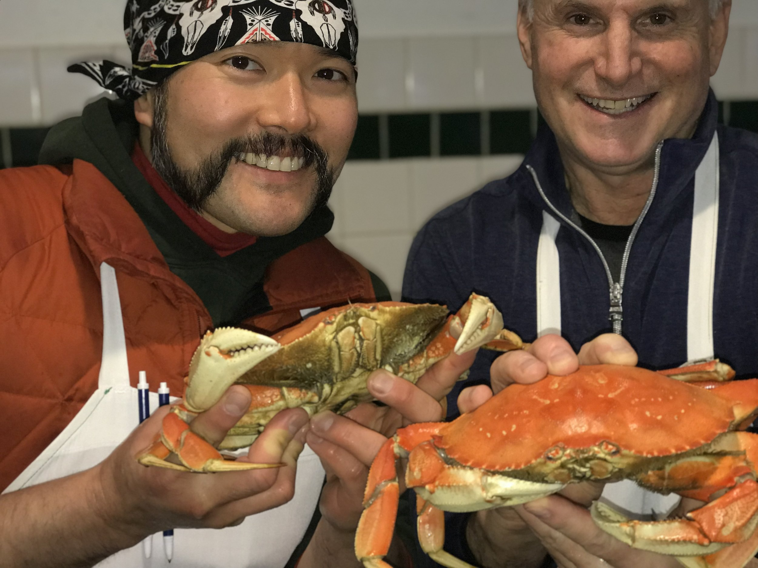 Stephen and Rod are thankful the Oregon Dungeness!