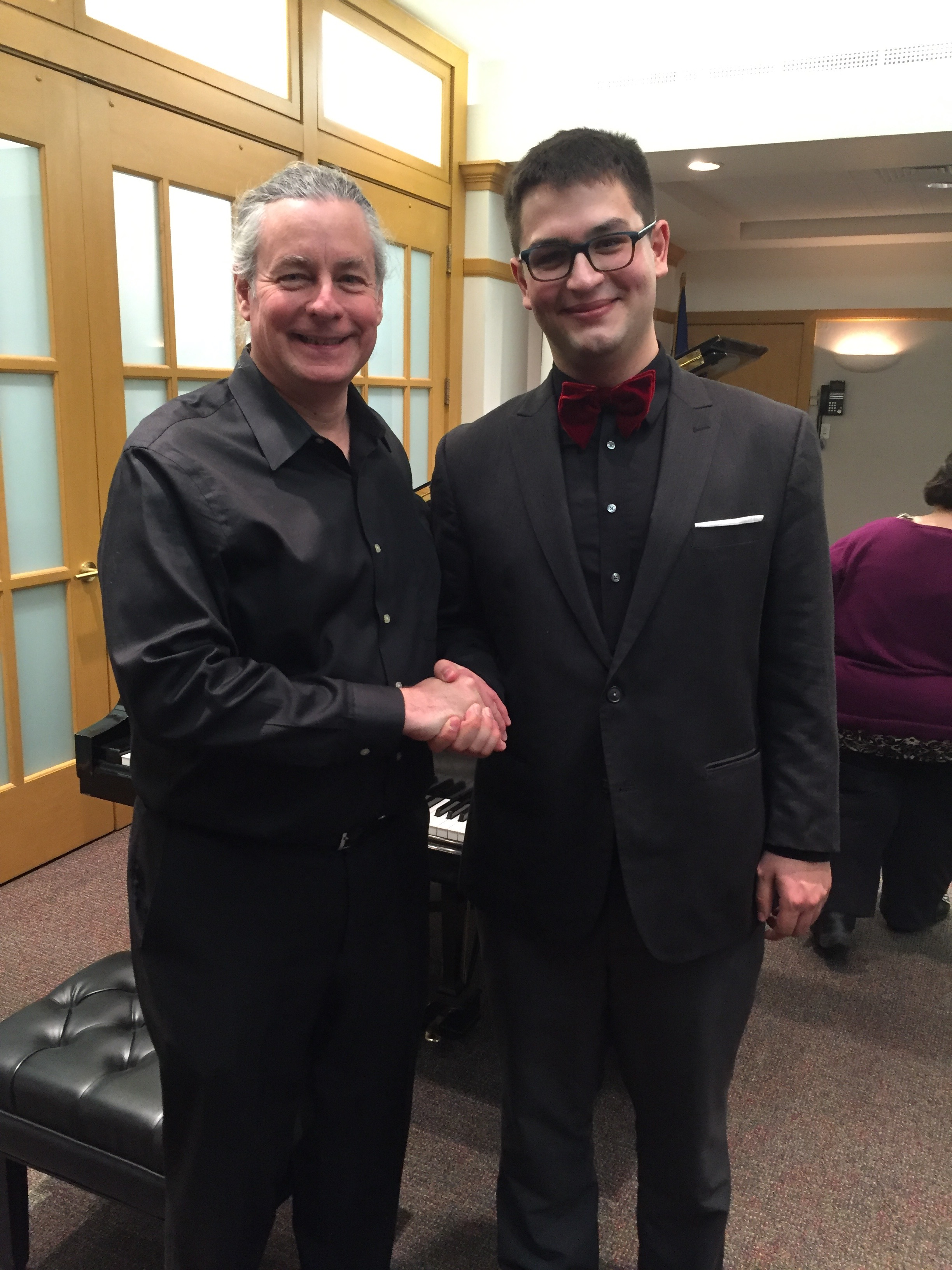 PRCO Music Director Victor Muenzer and Ethan Valentin at 'Piano Recital by Ethan Valentin'