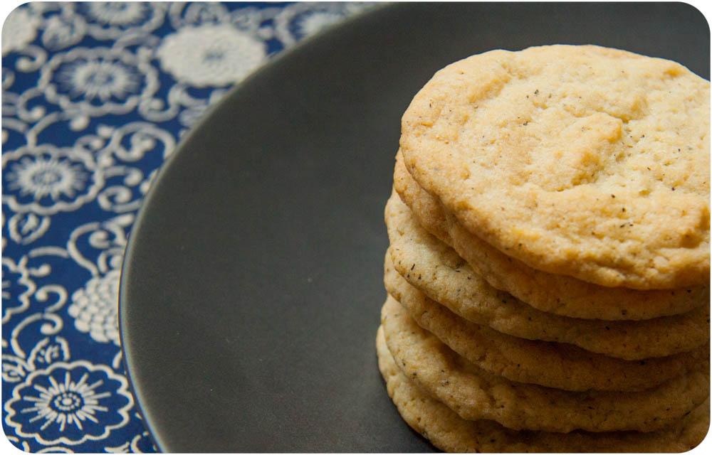 lemon + earl grey sugar cookies