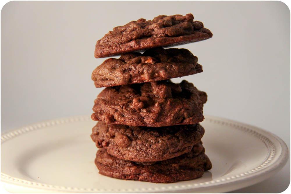 pretzel chocolate chocolate chip cookies