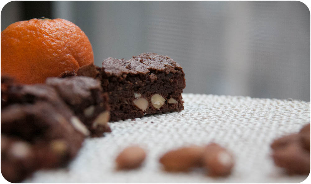 clementine + almond brownies