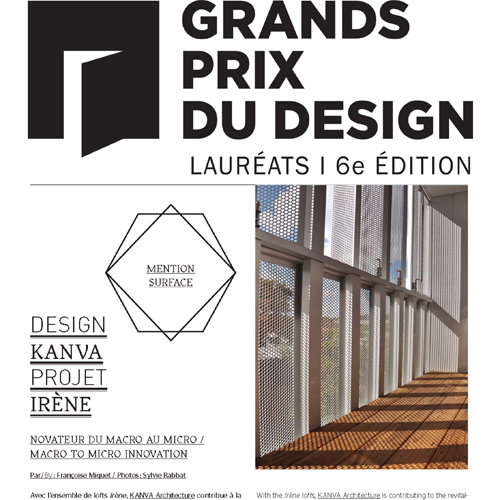 GRANDS PRIX DU DESIGN 2012 -Lauréat Mention Surface: Irène