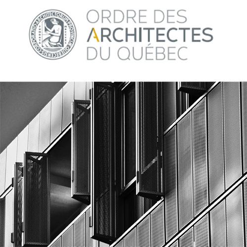 ORDRE DES ARCHITECTES DU QUÉBEC 2012 - Finaliste: Irène