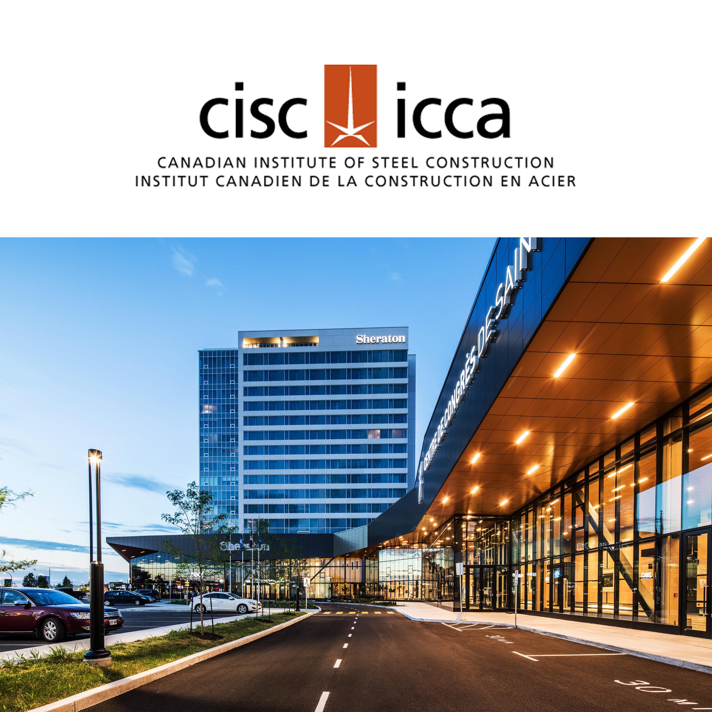 INSTITUT CANADIEN DE LA CONSTRUCTION EN ACIER 2018 - Trois fois Lauréat : Le centre de congrès de Saint-Hyacinthe