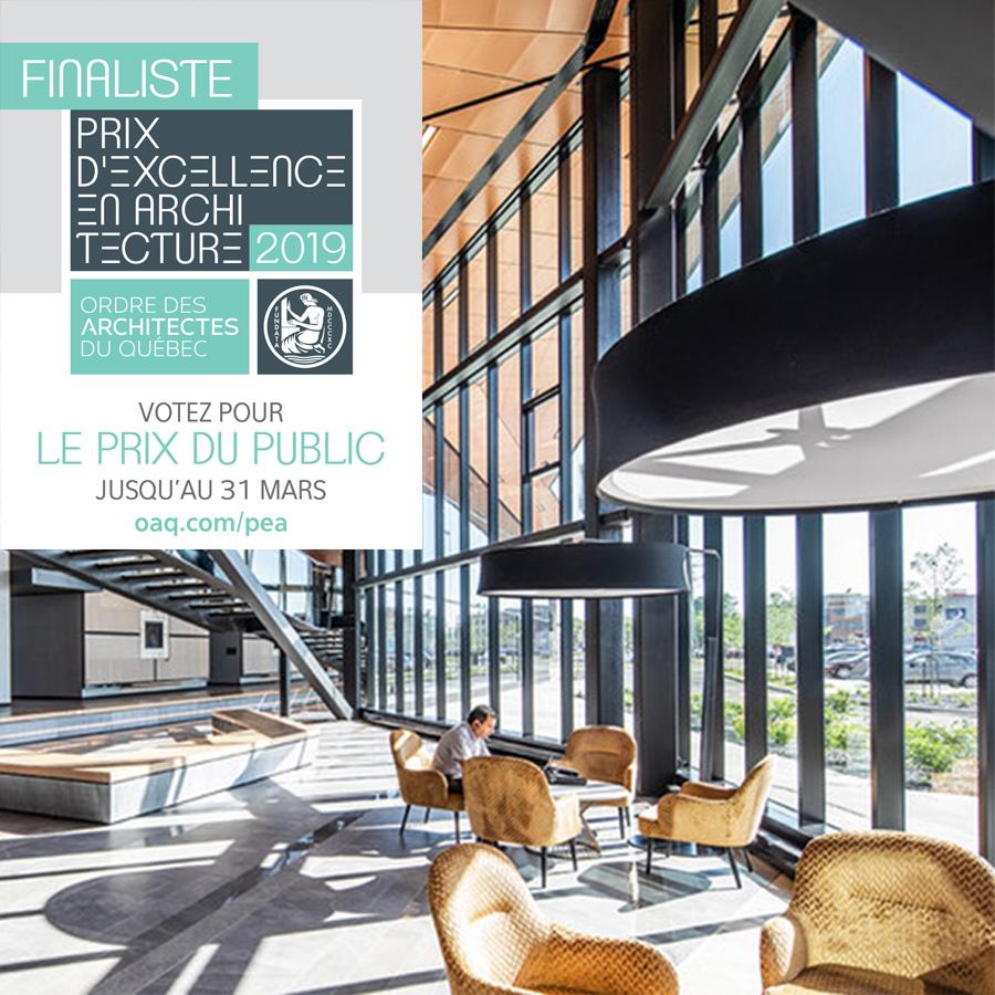 PRIX D'EXCELLENCE OAQ 2019 - Finaliste avec NEUF architect(e)s