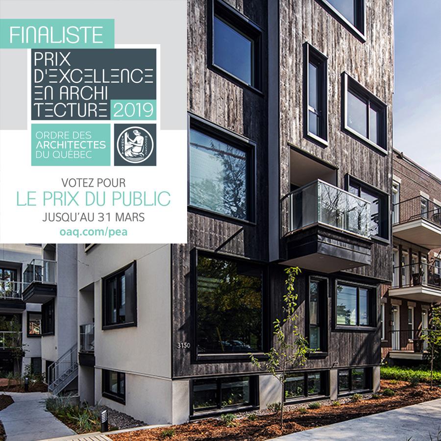 PRIX D'EXCELLENCE OAQ 2019 - Finaliste