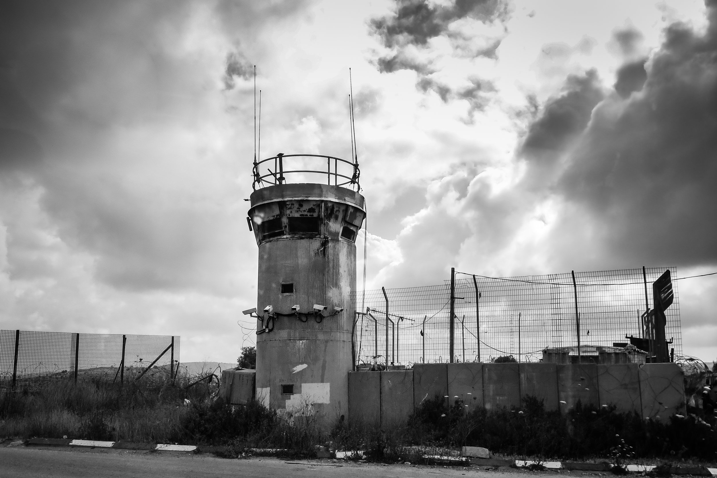 Ramallah Checkpoint Tower_Ramallah_KatieA-W.jpg