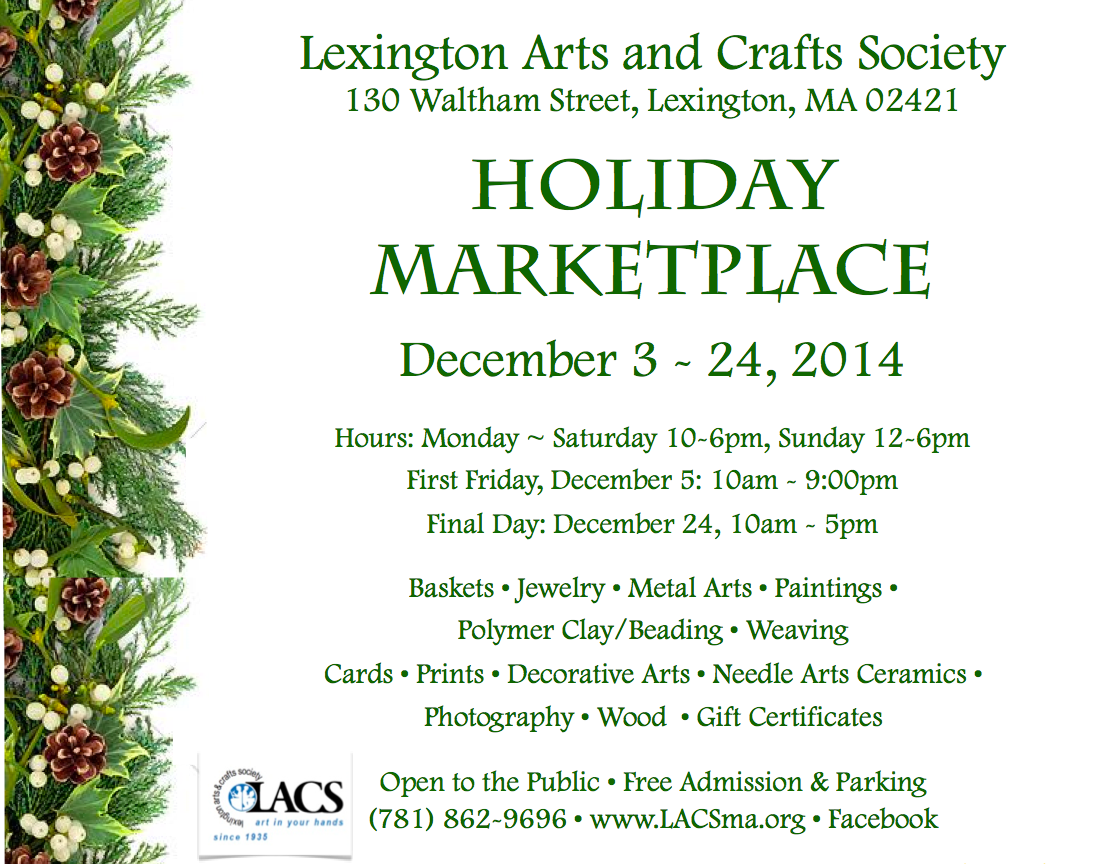 LACS Holiday Marketplace flyer