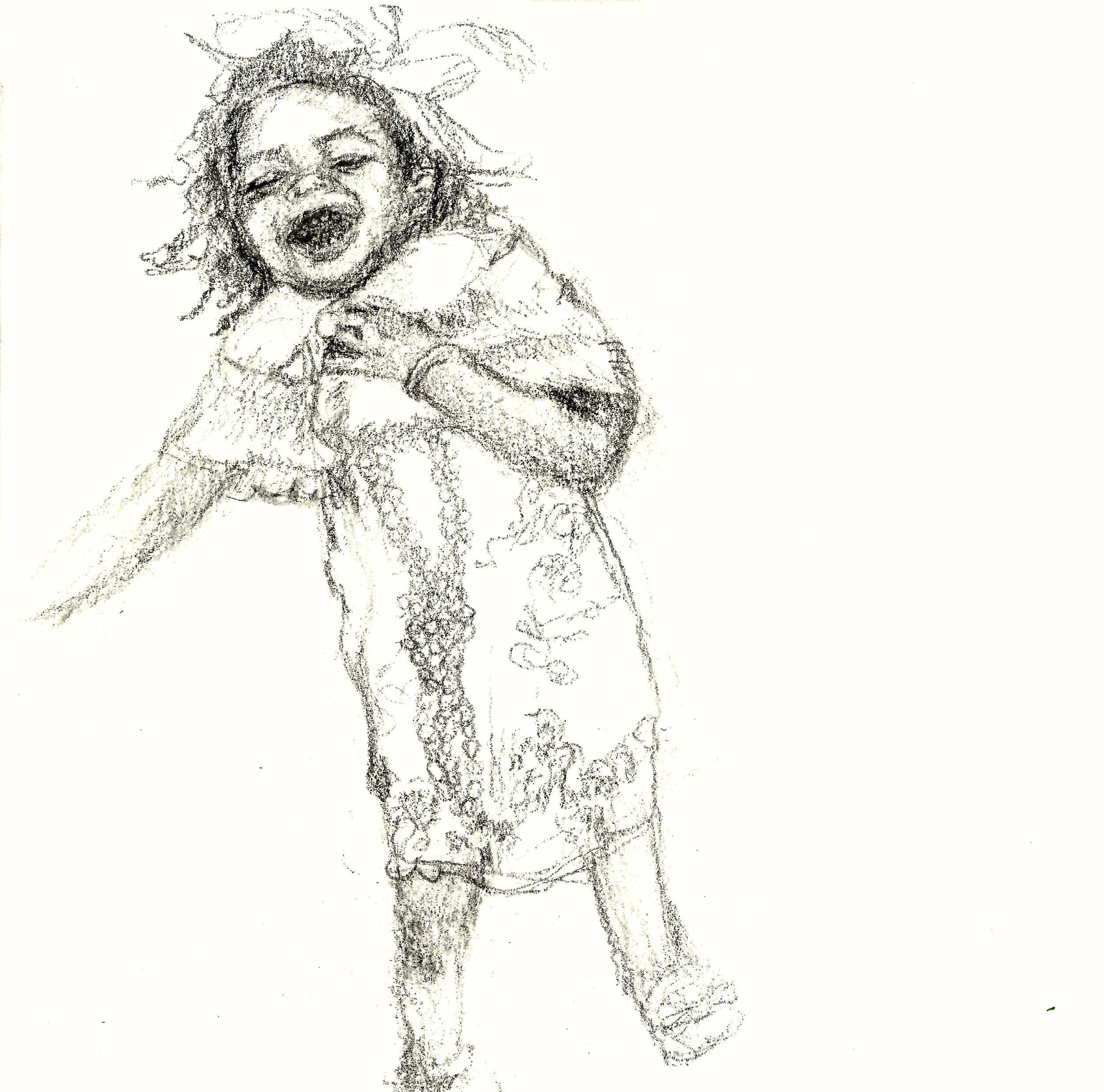 Last Laugh   Graphite sketch on 140 lb cold press