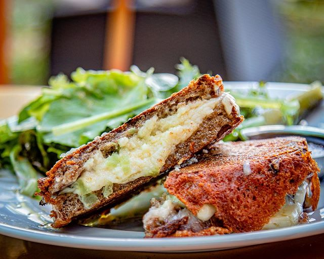 Warm the cockles of your heart with the return of our legendary GRILLED CHEESE during our Final week! 😬 Our whole wheat sourdough bread, cheddar AND Gruyere, onions and garlic. Served with a side of dressed greens….for balance 😉 _______________________________________________________ The market and restaurant will be open normal hours W/Th 10A-3P, Th-Sat 10A-3P, Sun 10A-3P. Brunch is Sat/Sun 10A-3P. Last day is Sunday May 26th.