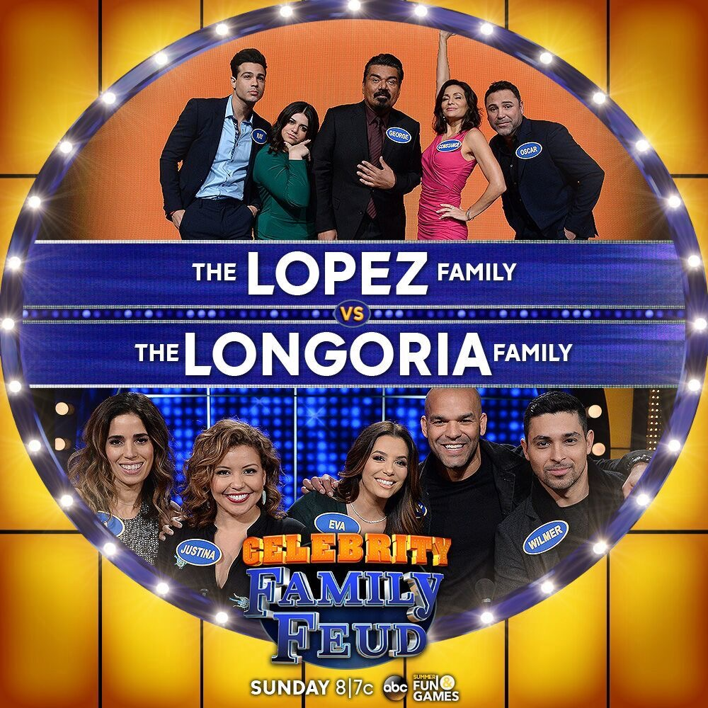 George Lopez vs Eva Longoria Celebrity Family Feud ABC