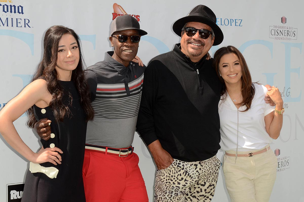12th Annual George Lopez Celebrity Golf Classic Aimee Garcia, Don Cheadle, George Lopez, Eva Longoria.jpg