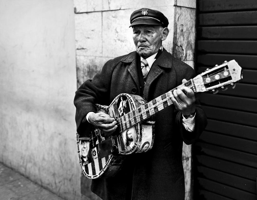 A street musician performs in Quito, Ecuador.
