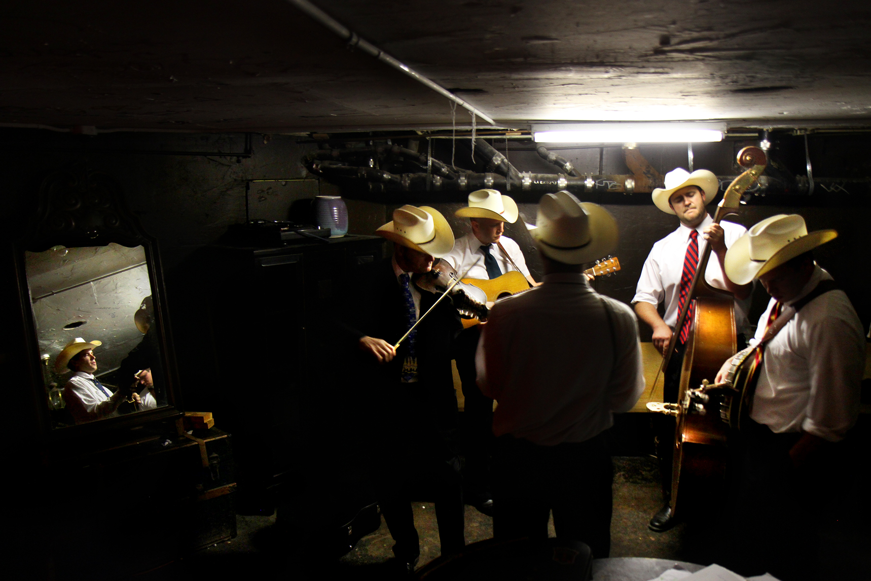 The Windy Hill band rehearses one last song before heading to the stage at Amnesia, in San Francisco on Aug. 15, 2011.