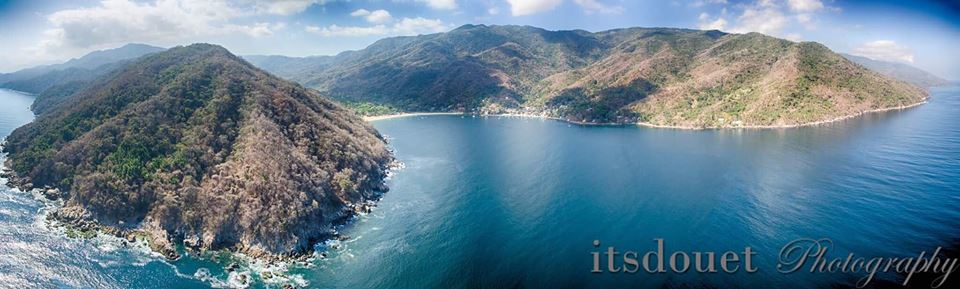Beautiful view of the Peninsula and Yelapa Bay