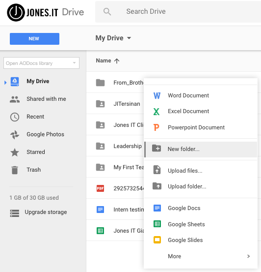How do I create private folders and documents in Google Drive