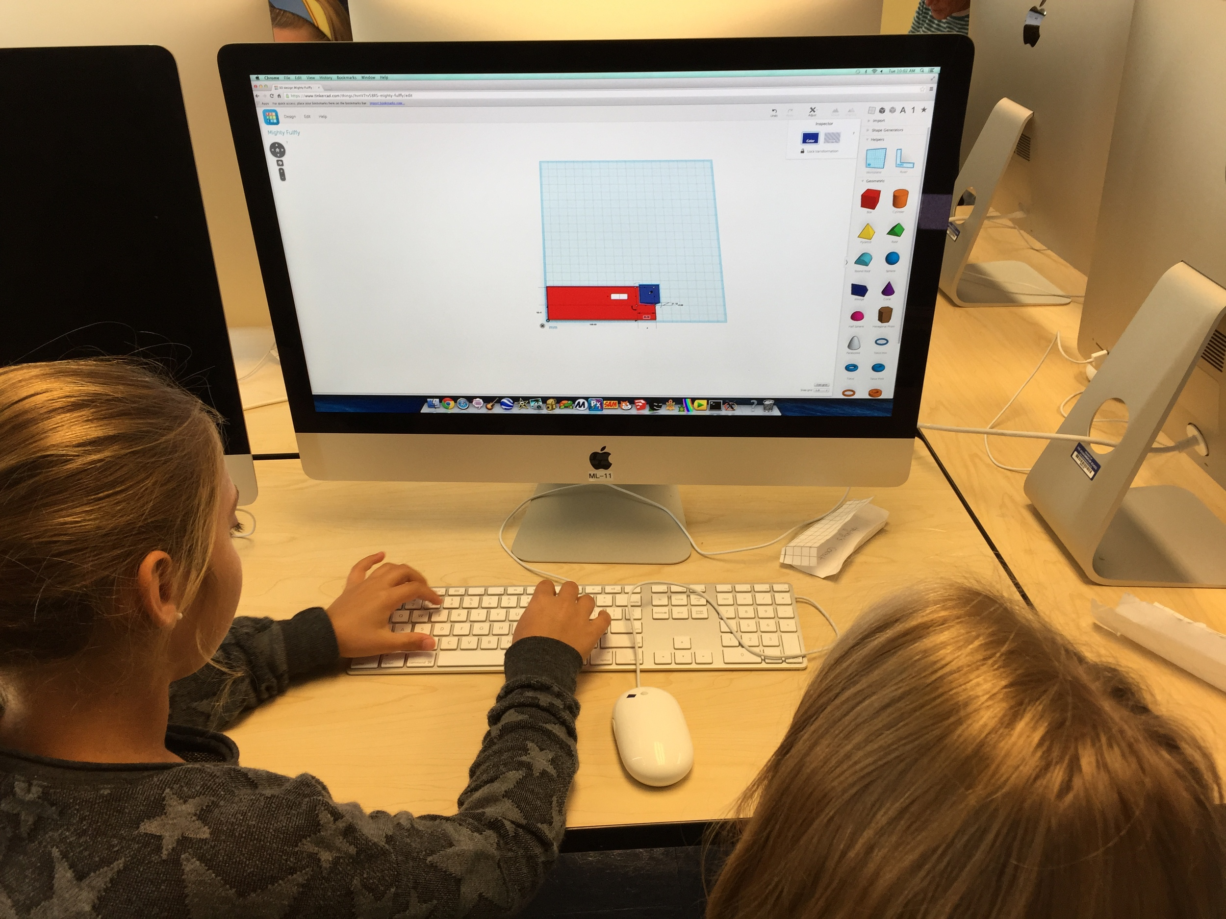 5th Graders use TinkerCAD and 3D printing to explore volume and surface area.